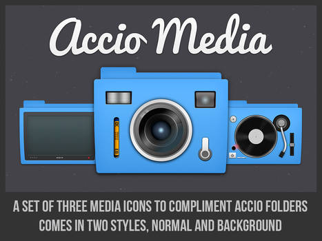 Accio Blue Media Folders