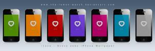 iPhone 4 Steve Jobs Wallpaper by THE-LEMON-WATCH