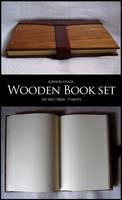 Wooden book set