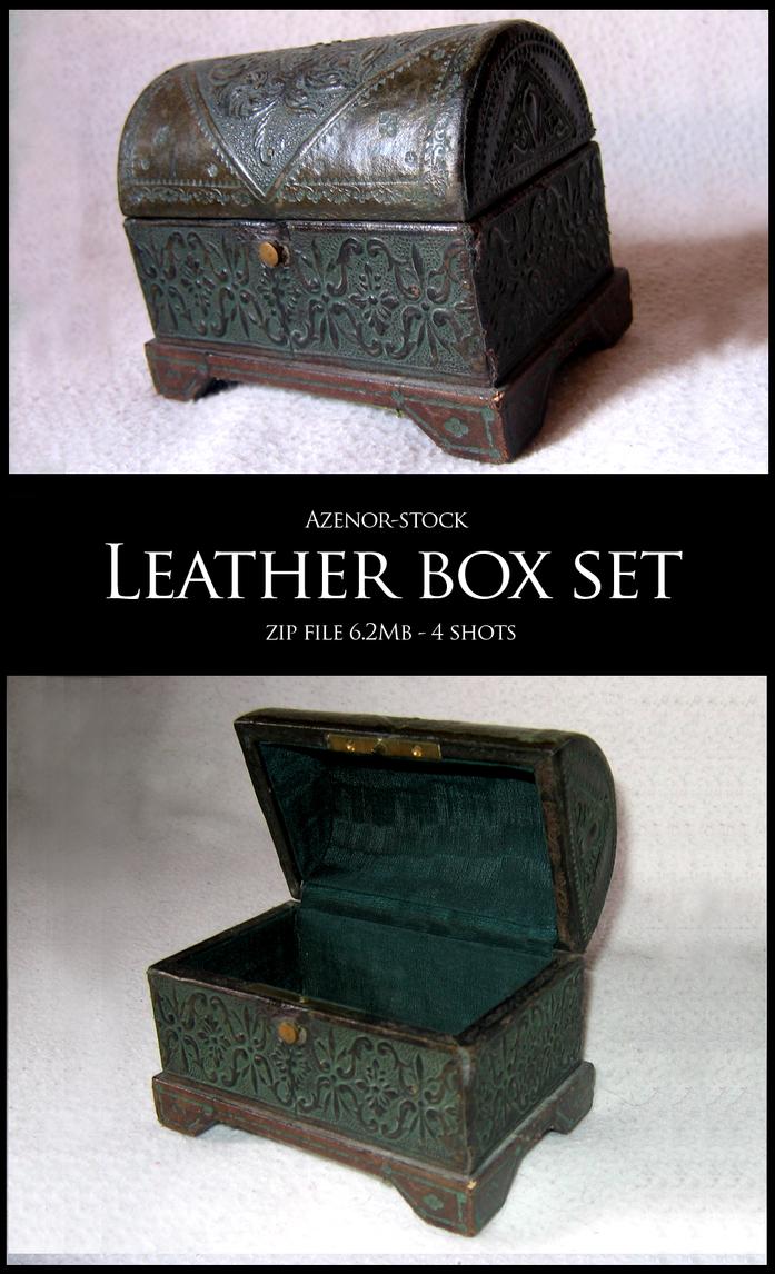 Leather box set by Azenor-stock