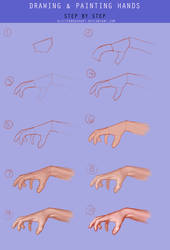 Hands Coloring . Drawing Tutorial