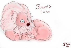 pink fluffy  lion!!