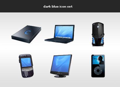 dark blue icon set by blind91