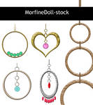 MD Earring Stock by MorfineDoll-stock