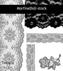 MDS Lace PS Brushes by MorfineDoll-stock