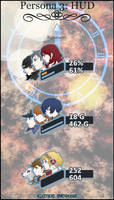 Persona 3: Battle HUD 1.0 by My-Electric-Cucumber