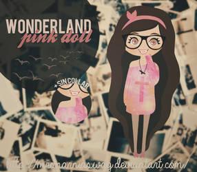 WonderlandPink doll.