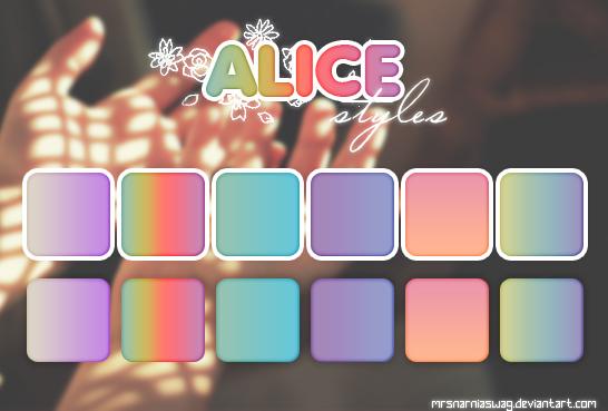 'Alice' styles by MrsNarniaSwag