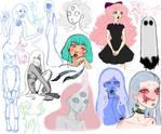 Sketch dump by mylittledeadbunny
