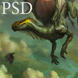 Green dragon PSD by Verehin