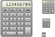 Calculator Icon by mikevickrocks