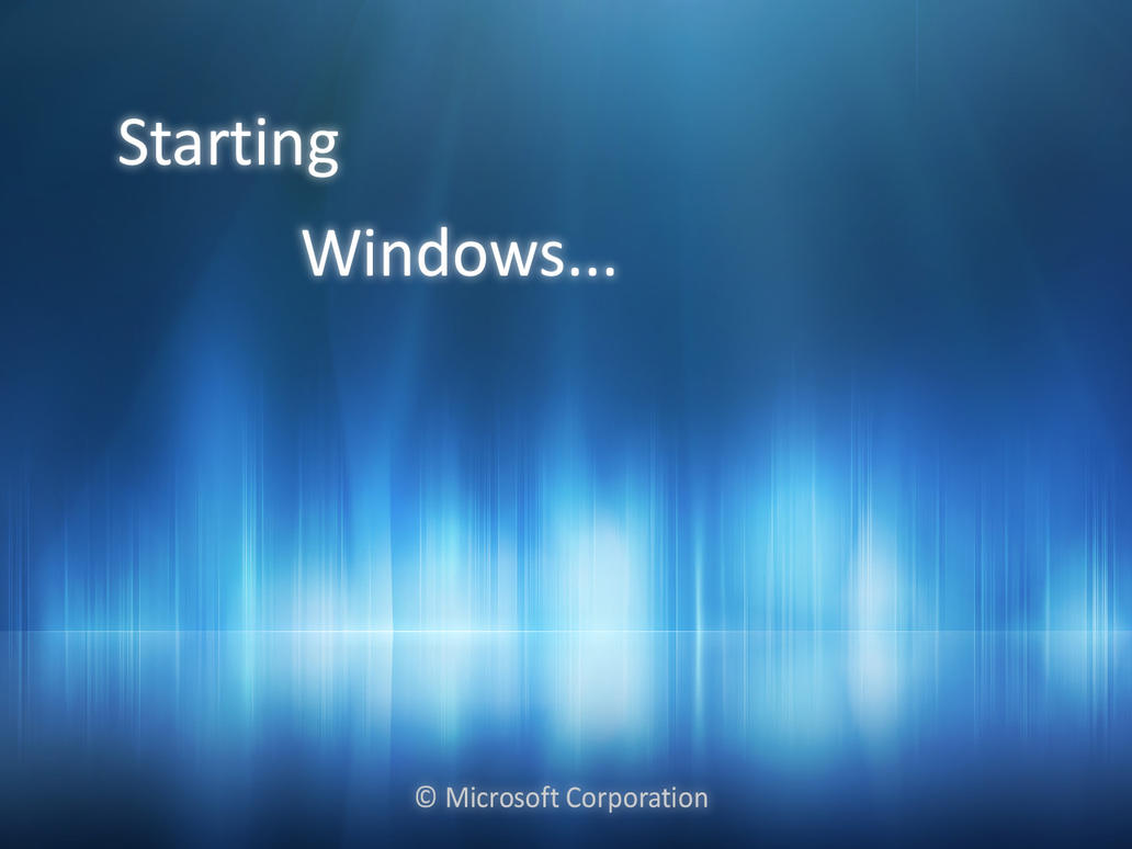how to change startup screen windows 7