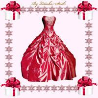 Pink Fantasy Dress by PrincessInHeaven