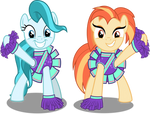 MLP Vector - Shimmy Shake and Lighthoof