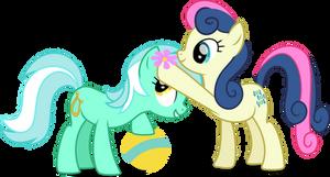 MLP Vector - Lyra Heartstrings and Bon Bon