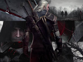 Geralt of Rivia - Killing Monsters (GIF)