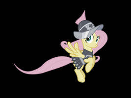 First Vector- Fluttershy as Private Pansy by RedmondRoshi
