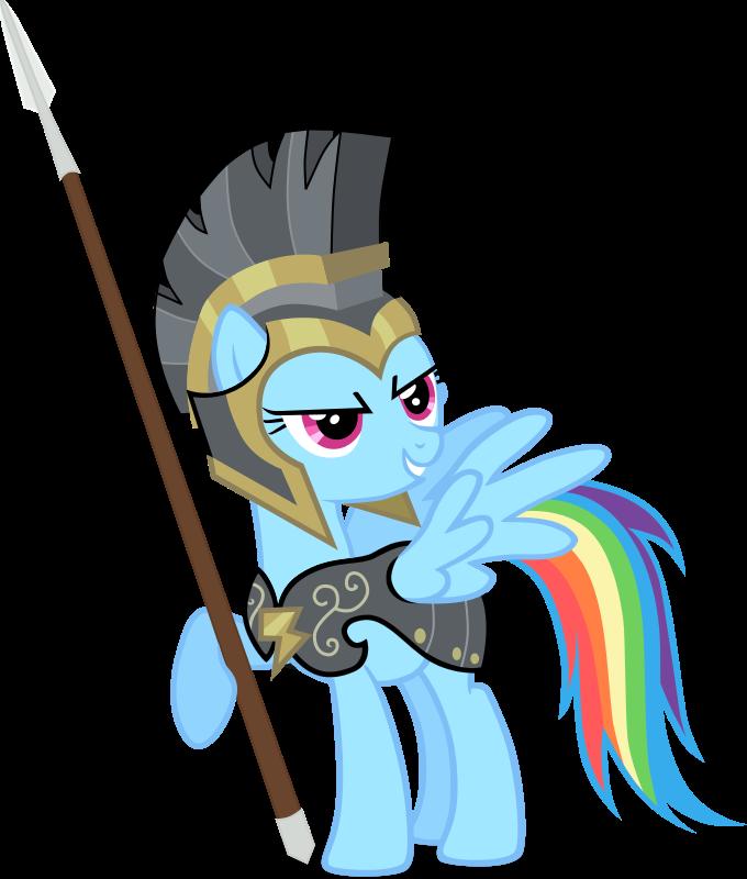 Rainbow Dash As Commander Hurricane by RedmondRoshi