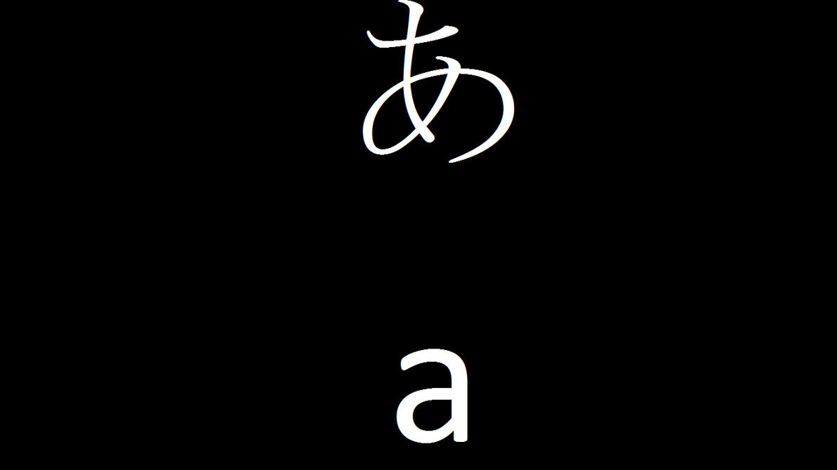 A Alphabet Wallpaper Jap Alphabet Wallpaper Set by