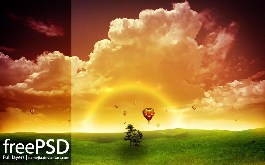 PSD - Amanecer by EAMejia