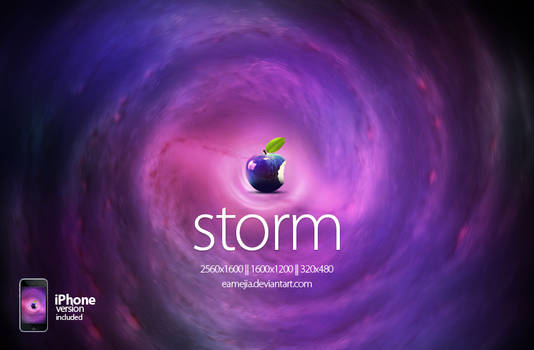 Storm Apple Wallpaper