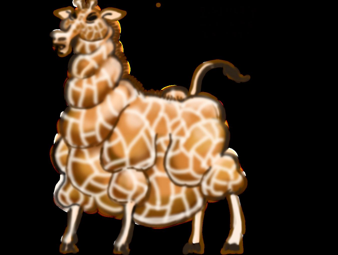 fat giraffe by zenzmurfy on deviantart