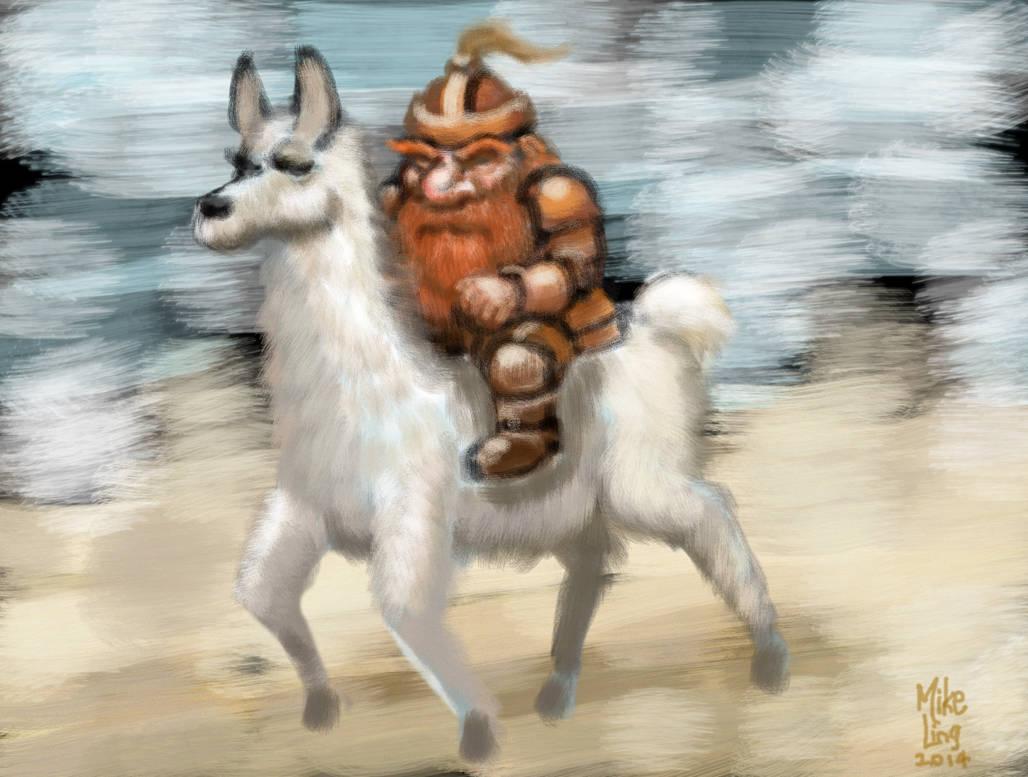 Dwarf_Riding_Llama