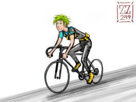 Draw your OC riding a bike
