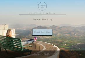 Fictional Travel Agency Landing Page
