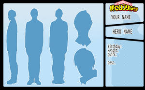 (f2u) BNHA Character Reference Template by seungcheol
