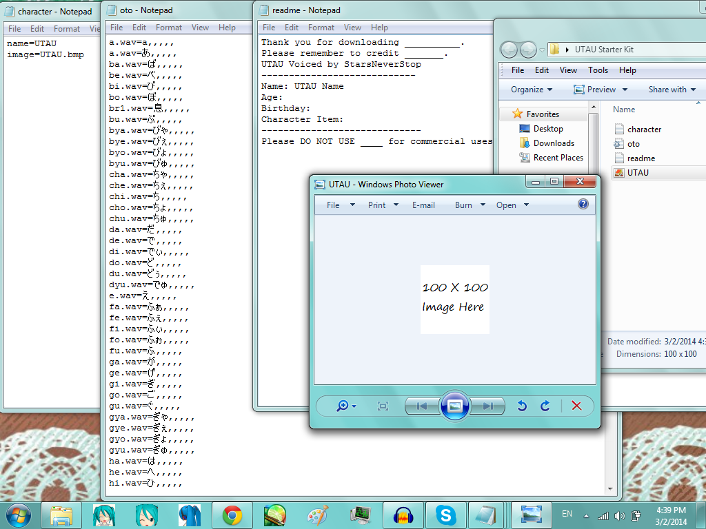 UTAU Starter Kit Download by StarsNeverStop
