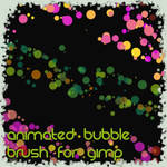 Animated Bubble brush for gimp
