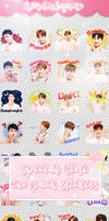 EXO LINE STICKERS PACK // by kinderbyuno