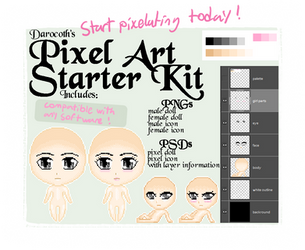 FREE avatar and page doll pixel bases by darocoth