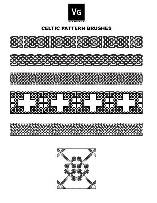 Celtic Pattern Brushes By Vectorgeek On Deviantart - Imagez co