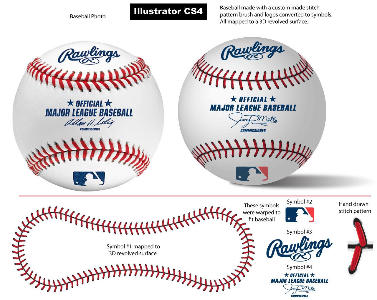 Baseball Stitch Pattern Brush by vectorgeek