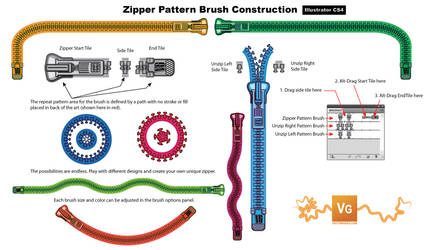 Zipper Pattern Brush