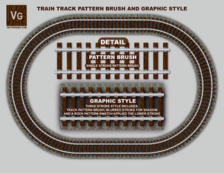 Railroad Track Pattern Brush