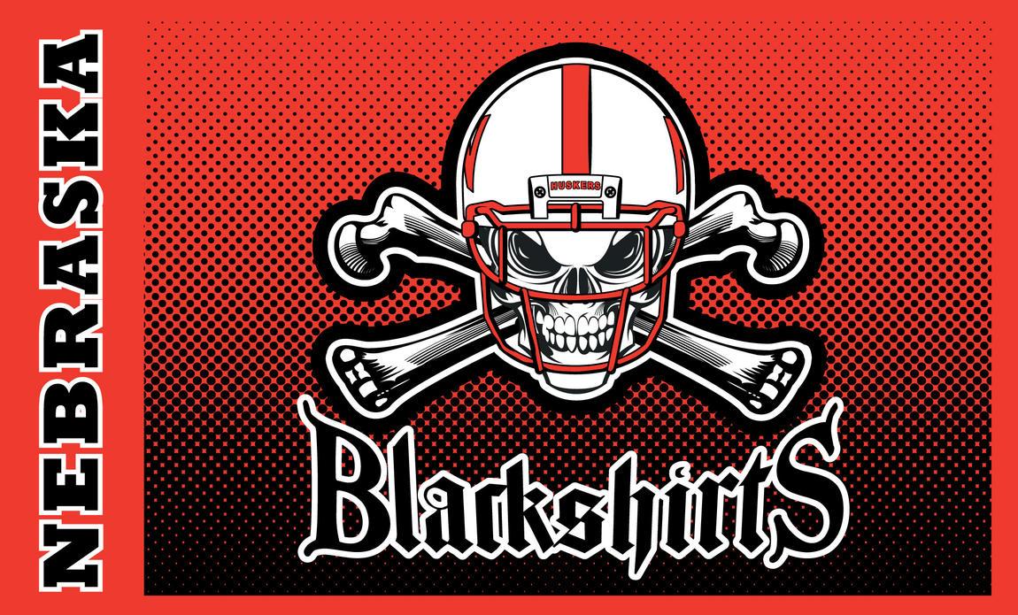 Blackshirts-skull-dots by vectorgeek