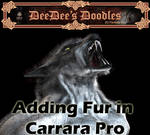 Adding Fur in Carrara Pro by 3D-Fantasy-Art