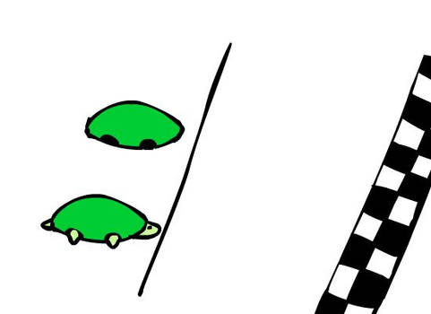 Turtle race - animation