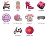Real pics Pink icons