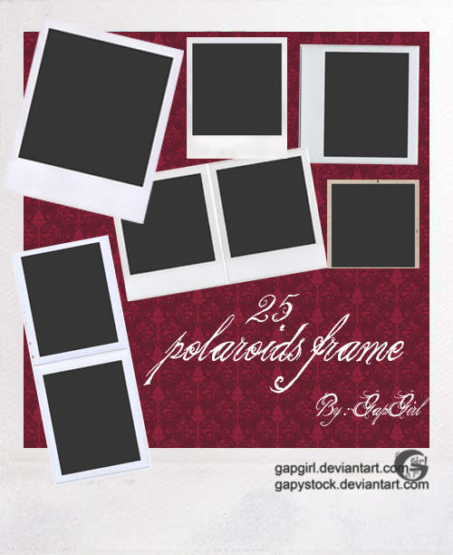 polaroids frame by gapystock