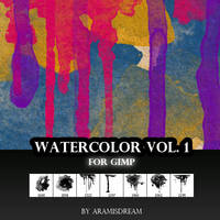 Watercolor Brush Vol.1 by Aramisdream
