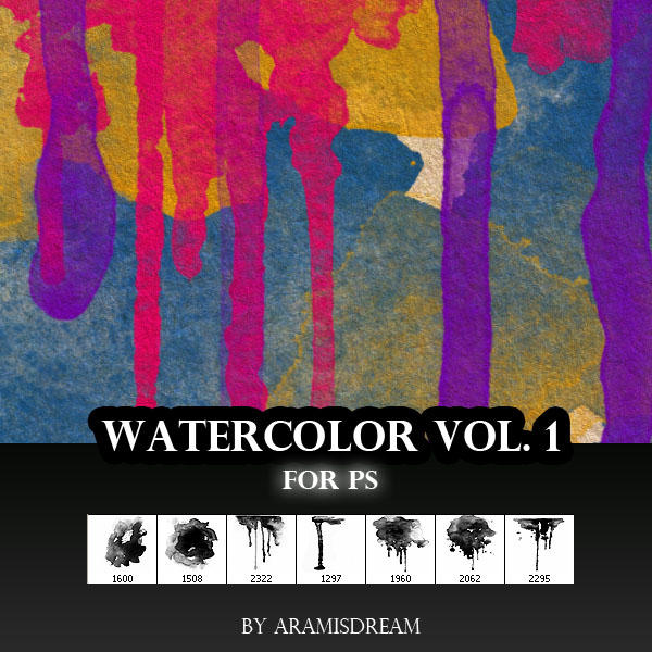 Watercolor Brush Vol.1 -  PS by Aramisdream