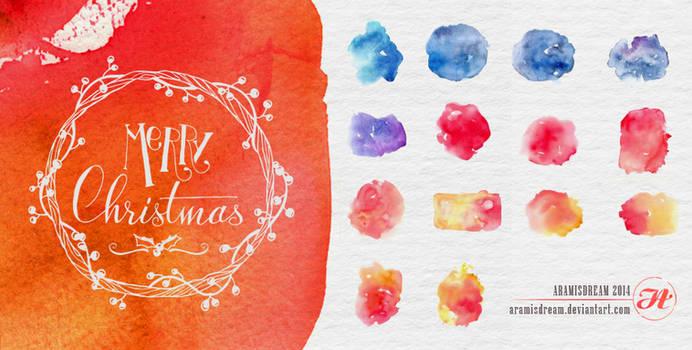 Watercolors Christmas Textures