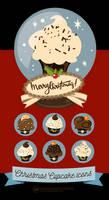 Christmas Cupcakes Icons by Aramisdream