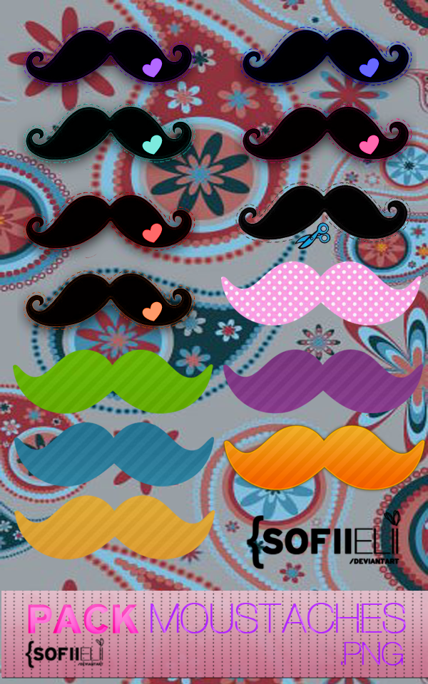 + Pack Moustaches .PNG by SofiiElii