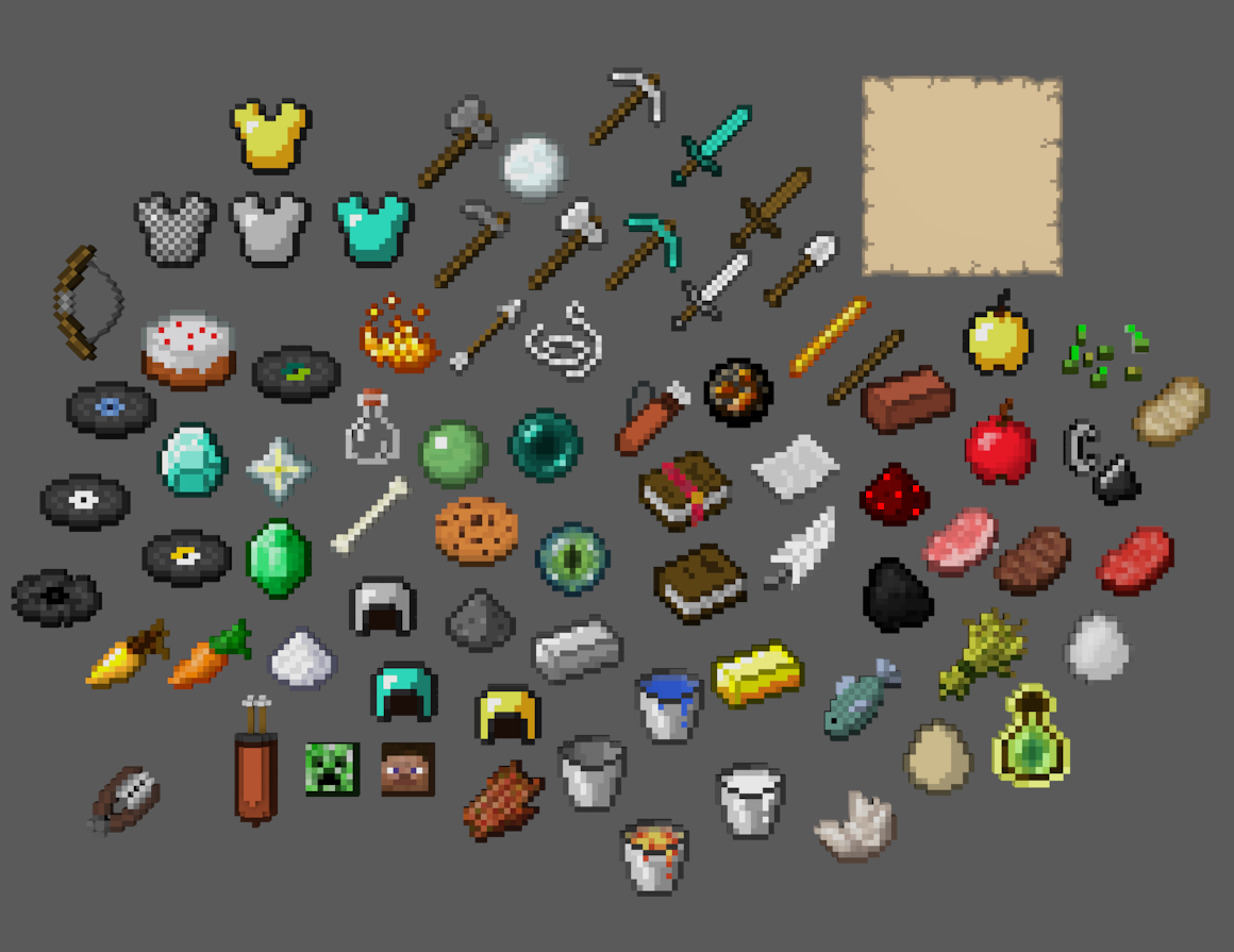 Minecraft Items In Blender By Elb89crash By Elb89crash On