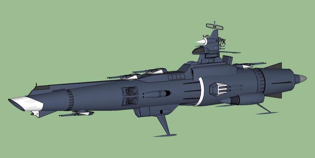 EDF-UNCF-Hood class cruiser .skp by NezumiYuki
